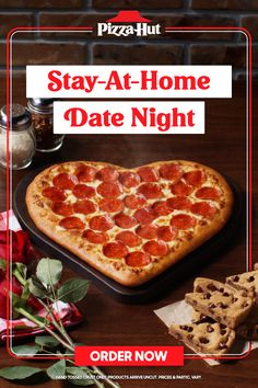 Whether you're hosting a virtual girls' night, or looking for a sweet gift to send your gal pals, the Heart-Shaped Pizza is a MUST for Galentine's Day. Friendly disclaimer: we bake hearts, not break them—pizza arrives uncut. Available until 2/14. Order Pizza Online, Heart Shaped Pizza, At Home Date Nights, Virtual Girl, Pizza Delivery, Beauty Regimen, Pizza Hut, Girls Night, Proposal