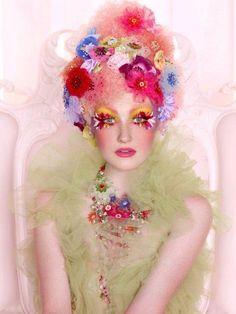 flowers like false lashes