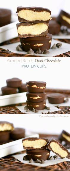Protein Treats By Nicolette : Almond Butter Dark Chocolate Protein Cups
