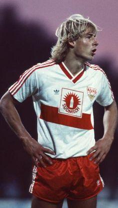 """Jürgen Klinsmann 1986 """"Der Bomber"""" scored 5 goals in 30 minutes for his team"""
