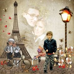 Bribri62-Scrap: Mes pages avec le Kit Love in Paris de Kittyscrap