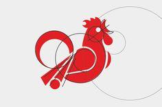 chicken logo design process | kyril negoda