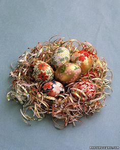 oragami paper covered eggs