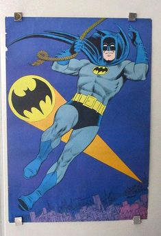 Original CRISP Limited Signed Batman Superman Canvas Pop art DC Comics