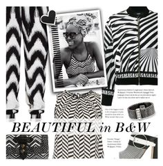 """""""Beautiful in B&W"""" by xiandrina ❤ liked on Polyvore featuring Bardot Junior, Mossimo Supply Co., Versus, Pollini, Dorothy Perkins and Tiffany & Co."""