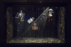 vitrines- Noël d'une autre planète – Galeries Lafayette Paris Haussmann.