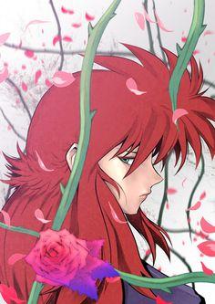Kurama Yu Yu Hakusho Manga Boy, Manga Anime, Anime Art, Yu Yu Hakusho Anime, Fox Boy, Neon Genesis Evangelion, Awesome Anime, Manga Comics, Anime Characters