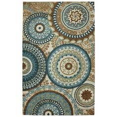 @Overstock - Forest Rings Multi Rug (5' x 8') - Medallions are not just for ceilings and cornice trim anymore.  This rugs fuses classic design with today's trendy colors.  http://www.overstock.com/Home-Garden/Forest-Rings-Multi-Rug-5-x-8/7971540/product.html?CID=214117 $81.59