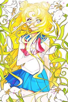 anime yellow cute girl: sailor moon fanart- usagi by 雪なみ Sailor Moon Fan Art, Sailor Moon Usagi, Sailor Moons, Sailor Moon Crystal, Old Anime, Anime Manga, Manga Art, Anime Art, Princesa Serenity