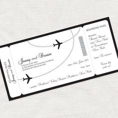 come fly with me boarding pass wedding invitation by idoityourself