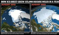 A chilly Arctic summer has left 533,000 more square miles of ocean covered with ice than at the same time last year