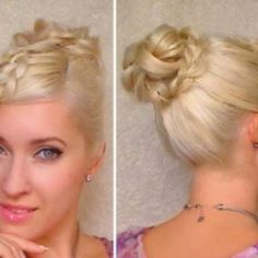 Next you have to make your hair into ponytail first as the step for bun hairstyle for 2014.