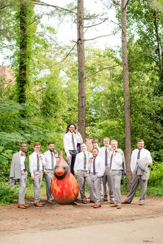 Mikkel Paige Photography photos from a wedding in Durham, North Carolina. Casual picture of the groomsmen.