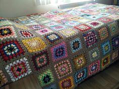 Again granny square , blanket pattern ,crochet