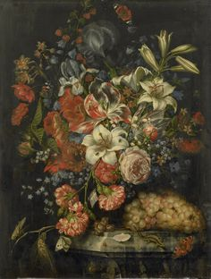 """ Still Life with Flowers and Fruit, 1671, Ottmar Elliger (I) """