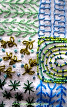 Kathleen Murphy workshop: 'Taking a Thread for a Walk; the Art of Doodling in Stitch' www.murgatroydhoots.blogspot.com