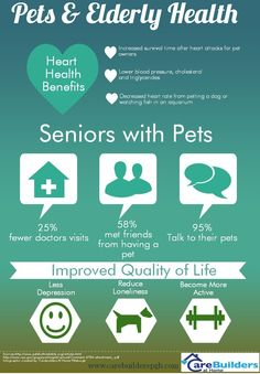 Infographic on how pets have a positive effect on an elderly persons health!
