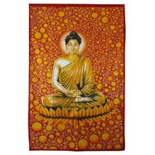 This groovy mod Buddha and bubbles tapestry will bring groovy zen spirit and good karma to any room! This funky buddha is floating serenely in a world of psychedelic bubbles! Use it as a tablecloth, a bedspread, a wall hanging, or a picnic blanket; the options are limitless! Please note: all tapestry measurements are approximate. $20.00