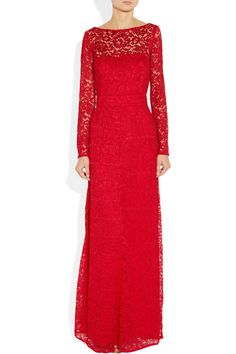 Red lace Button-fastening cuffs, hook-fastening cutout back, fully lined Concealed zip fastening at side 92% polyamide, 8% viscose; lining: 100% silk Dry clean