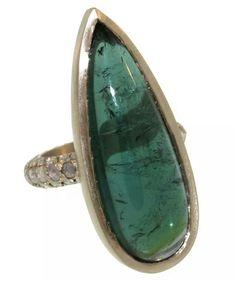 LFrank tourmaline and diamond ring