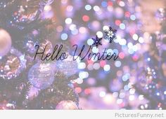 Hello winter quote on picture