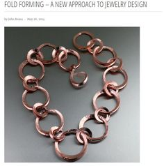 Article on Fold Forming – A New Approach to Jewelry Design Offered on #JohnSBrana #TFold https://www.johnsbrana.com/blogs/news/93308486-fold-forming-a-new-approach-to-jewelry-design