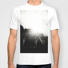 Illumination T-shirt by Anja Hebrank - $22.00  #reindeer #reh #nebel #fog #blackandwhite #bnw #bw #york #uk #england #streetphotography #canon #present #decoration #kitchen #interior #bnw #blackwhite #travelling #travelphotography #design #individual #society6 #print #art #artprint #interior #decoration #design #shirt #tshirt #fashion #clothing #clothes