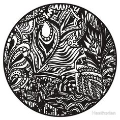 Circle 6 - The Garden - Aussie Tangle at http://www.redbubble.com/people/heatherian/works/13765645-circle-6-the-garden-aussie-tangle