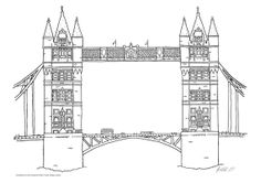 Poster with Tower Bridge London  print by JohnsIllustrations, $6.97