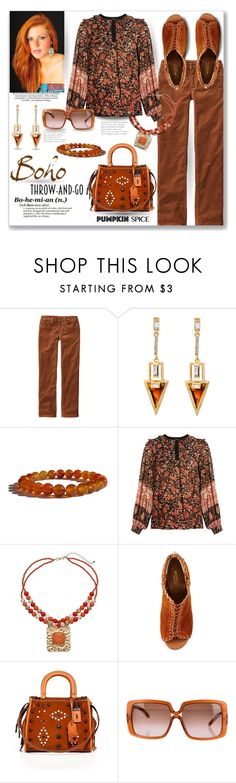 """""""Pumpkin Spice/Boho Throw and Go"""" by tjclay3 ❤ liked on Polyvore featuring Patagonia, MASSCOB, Michael Kors, Coach 1941, Nina Ricci, polyvoreeditorial, pss, pumpkinspice and Zenstore"""