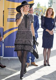 ♥•✿•QueenMaxima•✿•♥...Queen Maxima attended the opening of the European Congress on Nursing Care for the Elderly                                                                                                                                                                                 Mais