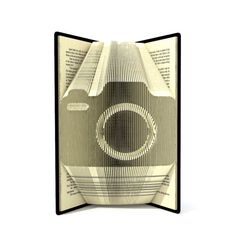Book folding pattern - CAMERA - 184 folds + Tutorial with Simple pattern - Heart - SI0525