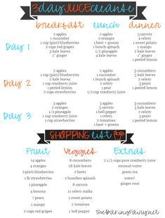 Finding the right combination of detox recipes for juicing can be difficult. Here are some of the best detox diet recipes to cleanse your body. 3 Day Juice Cleanse, Juice Cleanse Recipes, Health Cleanse, Detox Recipes, Detox Tips, Homemade Juice Cleanse, 3 Day Juice Diet, Homemade Detox, 2 Week Detox Cleanse