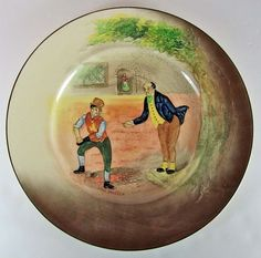 Royal Doulton Series Ware Low Relief Plate Mr. Pickwick & Sam Weller D5833