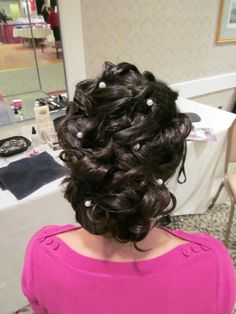 Wedding hair updo  . Prom hair up do  done by  Cassandra at : The Galleria Salon & Day Spa  Laconia, NH 03276     www.facebook.com/thegalleriasalon