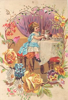 (Original as re-pinned)  Large Victorian Advertising Card w Little by kelleystreetvintage