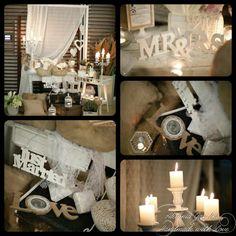 #wedding #decor #vintage #centerpiece #candy table