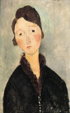 Portrait of a Young Woman : Amedeo Modigliani : Museum Art Images : Museuma, Elio Gervasi selection. Amedeo Modigliani, Italian Painters, Italian Artist, Henri De Toulouse Lautrec, Paul Cezanne, Art Moderne, Klimt, Woman Painting, Famous Artists