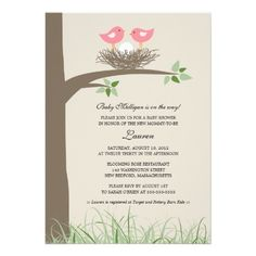 Baby Bird's Nest - Lesbian Couple Baby Shower Invitations