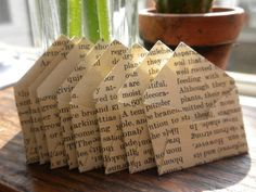 recycle old book pages