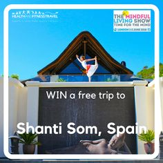 Have you entered our with Mindful Living Show yet? Get entering while you still can to be in with a chance of winning a free stay for you and a friend at Shanti Som in 🧘🏼♂️ Yoga Holidays, Train Your Mind, European Destination, Wellness Programs, Mindful Living, Free Travel, Competition, Spain, Muscle