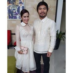 Jinkee's barong-inspired dress is just unbelievable. Modern filipiniana fashion = class