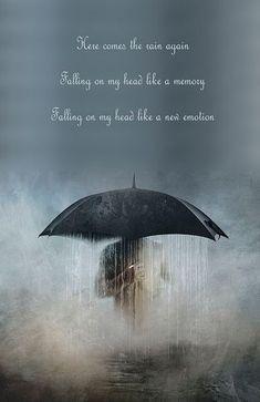 Here comes the rain again...