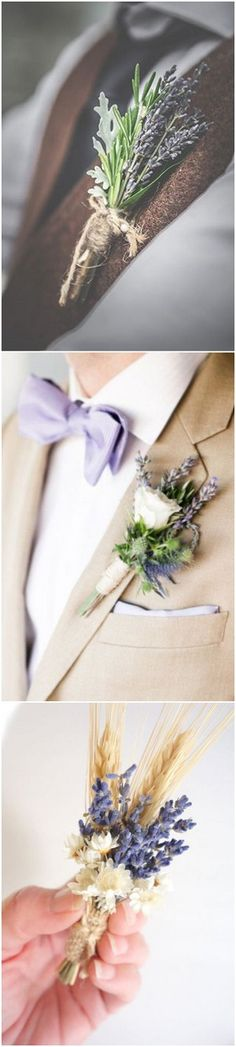 lavender wedding boutonniere