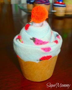 How to Make Sock Cupcakes-- birthday gifts for students!! We always need new socks!!