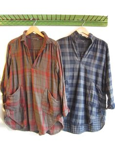 The Teton Tunic (by C.P. Shades).I love baggy flannels! So comfy AND cute! We carry C.P. Shades at Harvey Girls :) -MS