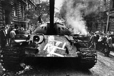 On this day, in August The invasion of the Warsaw Pact forces in Czechoslovakia - 500 thousand military, 800 aircraft, tanks and armored personnel carriers. Prague Spring, Days In August, Book Burning, Visit Prague, Prague Cz, Magnum Photos, Socialism, Cold War, Military History