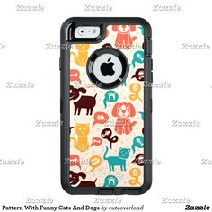 Pattern With Funny Cats And Dogs @zazzle #zazzle #phone #phonecase #case #tech #products #accessories #fashion #product #style #accessory #buy #shop #shopping #sale #gift #gifting #mensfashion #womensfashion #dogs #cats #pets #pattern #color #red #blue #yellow #orange #neat #cool #nice