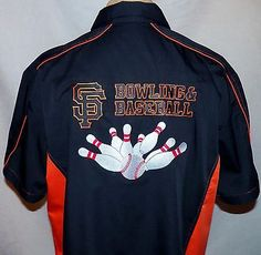 SF San Francisco Giants MLB 2014 World Champions Bowling Rockabilly Shirt XXL 2X