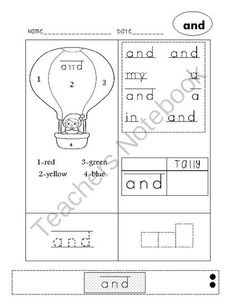 Sight Words Activities (Sight Word Champs) FREE from LearningandGrowing on TeachersNotebook.com - (4 pages) - Dolch Sight Word Practice Pre-Primer